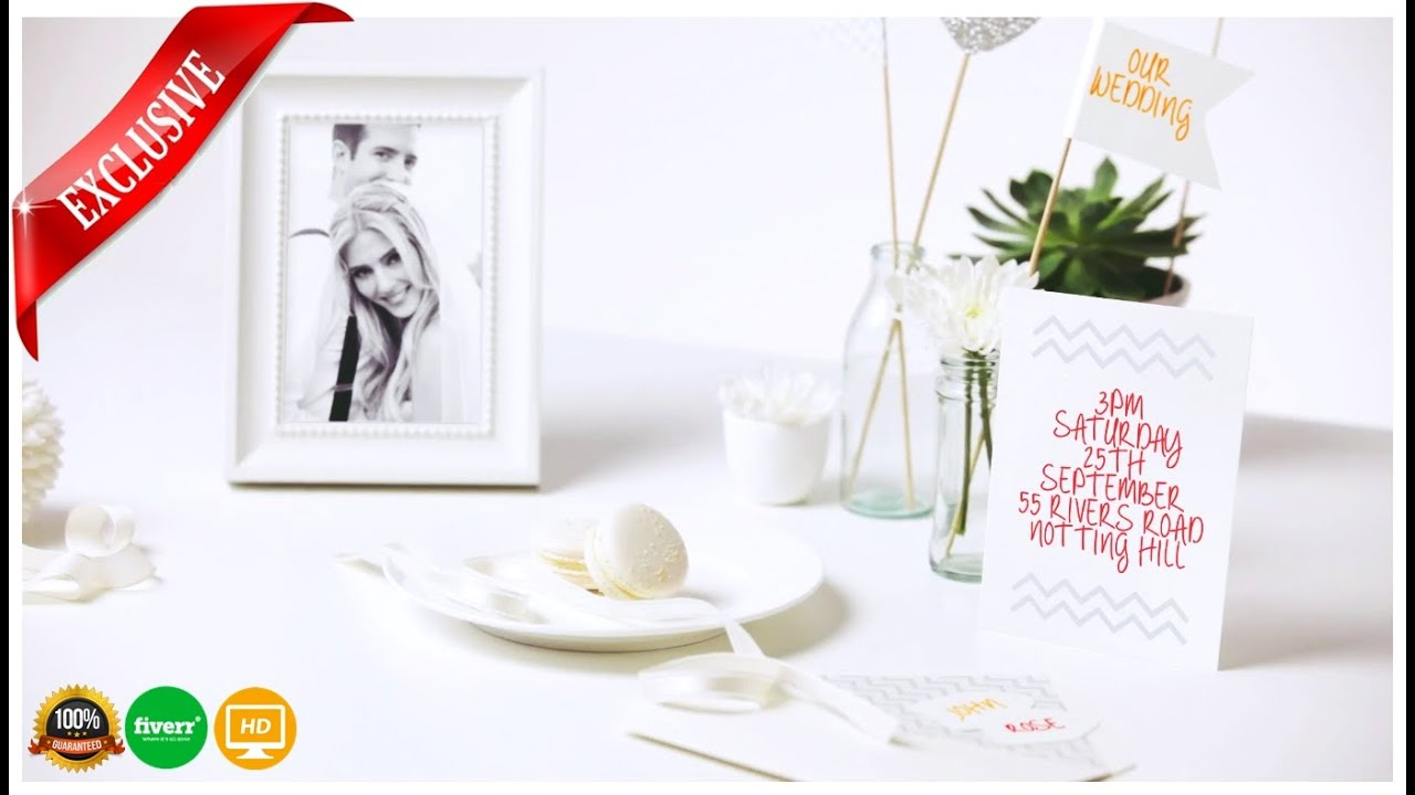 Wedding invitation Video :wedding save the date - bride + Groom ...