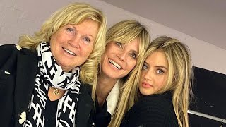 On sunday, heidi klum posted a pic with her mom, erna klum, and 16-year-old daughter, leni the set of leni's photoshoot for 'vogue ger...