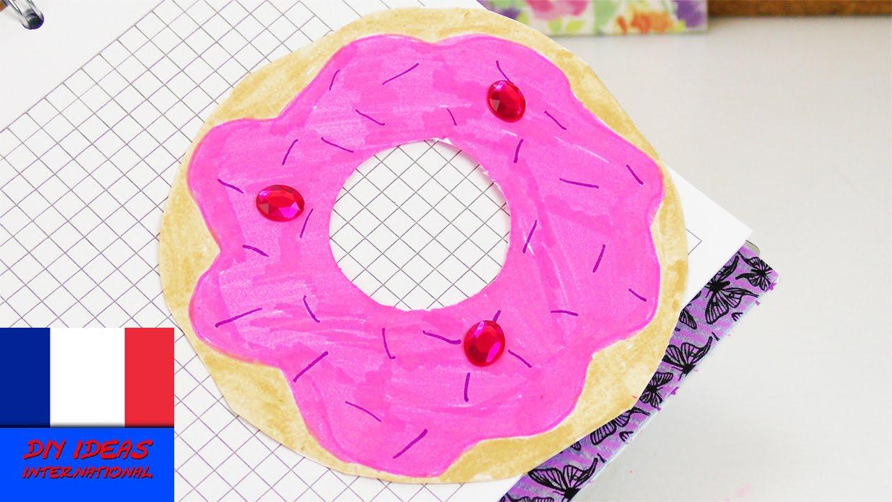 marque page en forme de donut marque page super mignon faire soi m me id e cadeau youtube. Black Bedroom Furniture Sets. Home Design Ideas