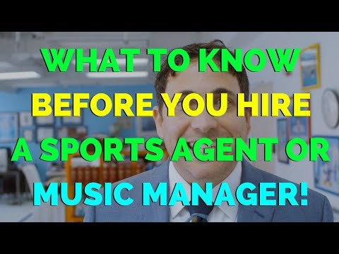 What to Know Before You Find a Sports Agent or Music Manager - Chase Lawyers