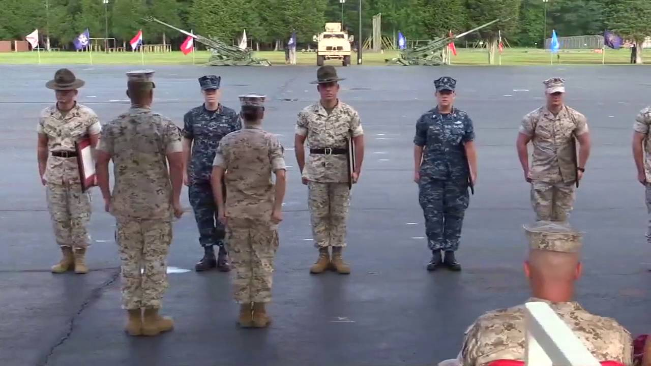Officer candidates school graduation ceremony usmc ocs blog youtube - Officer training school marines ...