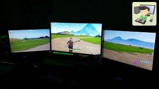 Jouer avec 3 écran à fortnite ou tout autre jeux pc