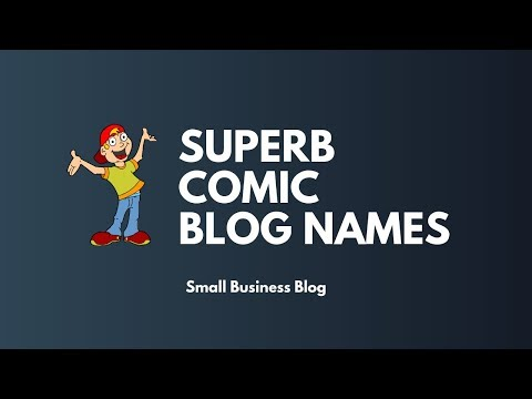 Superb COMIC BLOG NAMES