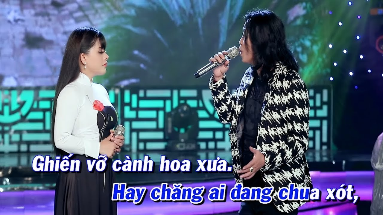 KARAOKE - Chuyện Tình Hoa Pensee | Song Ca Beat Chuẩn | Hồng Quyên & Vũ Duy