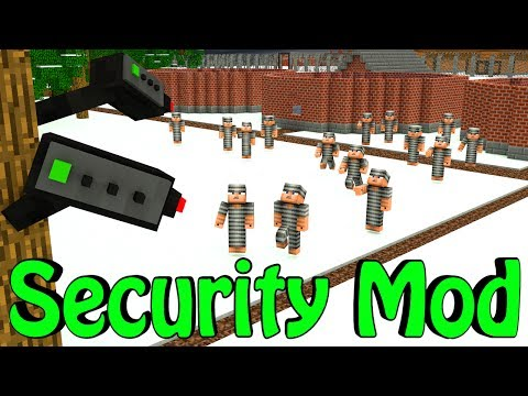 Minecraft | Base Defense Mod Showcase! (House Security, Security Camera