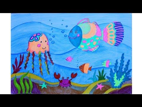 Как нарисовать морское царство