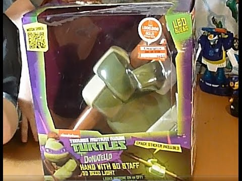 TMNT Teenage Mutant Ninja Turtles Donatello w Bo Staff 3D Ar