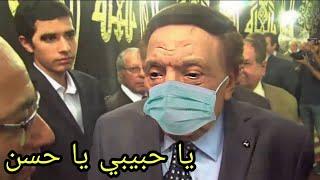شاهد كارثة تحدث في جنــازة الفنان حسن حسني بعد دخول عادل امام في حالة عصبية شديدة وفقدان الوعي