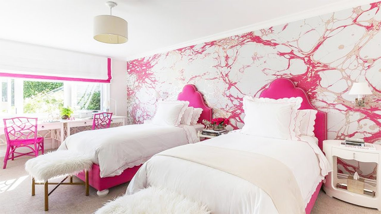 Best 3d Pink Wallpaper For Bedroom Walls Girls Part 2 Youtube