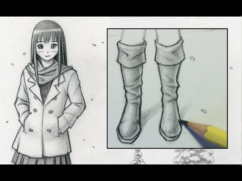 How to draw boots narrated step by step youtube