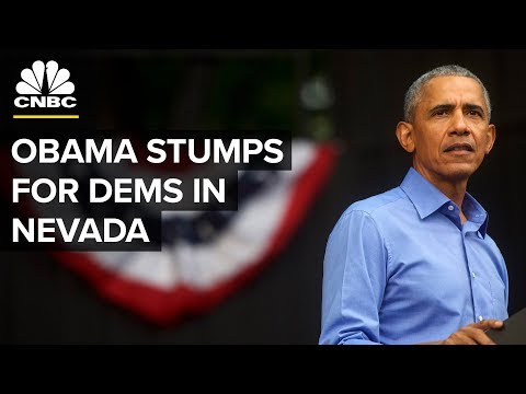President Obama Speaks at Democratic Rally in Las Vegas - Oct. 22, 2018