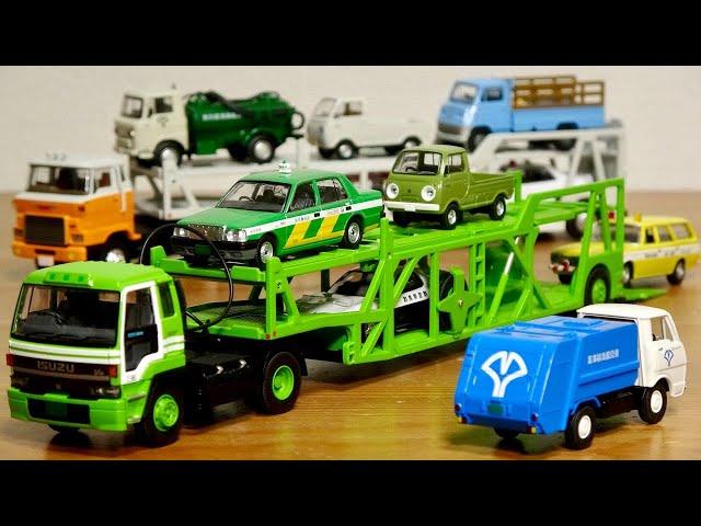 定価約2万円!緑の化け物車両!トミカ リミテッドヴィンテージネオ いすゞ810EX カートランスポーター (アンチコ ASZ022 車両運搬トレーラ) TOMYTEC TOMICA