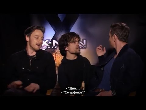 James McAvoy, Fassbender joking with Peter Dinklage ( X-Men: Days of Future Past)
