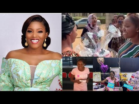 Download Abiola Adebayo In Tears As Toyiin Abraham and Husband Kolawole Ajeyemi Surprise Her On Her Birthday