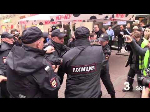 Проект 60sec №967. Серия одиночных пикетов в Москве