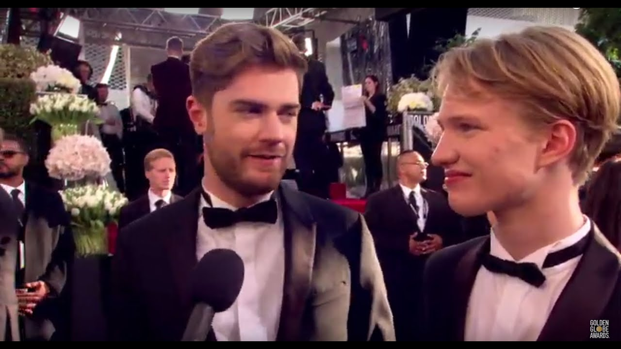Polster Max 76th Golden Globe Arrivals: Lukas Dhont & Victor Polster