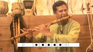 Lesson 3: How to play 'Saptak' - Sa Re Ga Ma Pa DHa Ni in flute/ Bansuri