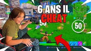 At 6 YEARS IL CHEAT ON FORTNITE! IT DEFONCE ALL WORLD COMME NINJA