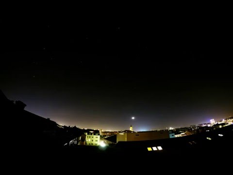 Timelapse of Night Sky over Dresden, Germany