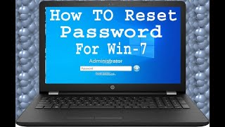 Howto Reset Password for win 7 l windows 7 ka password kaise tode l Reset  Password Without Software