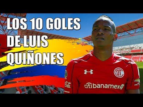 Los 10 goles de Luis Quiñones con Toluca