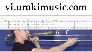Học Kèn Trombone Amazing - Grace Nốt Nhạc Bài Hát Phần#2 um-b687