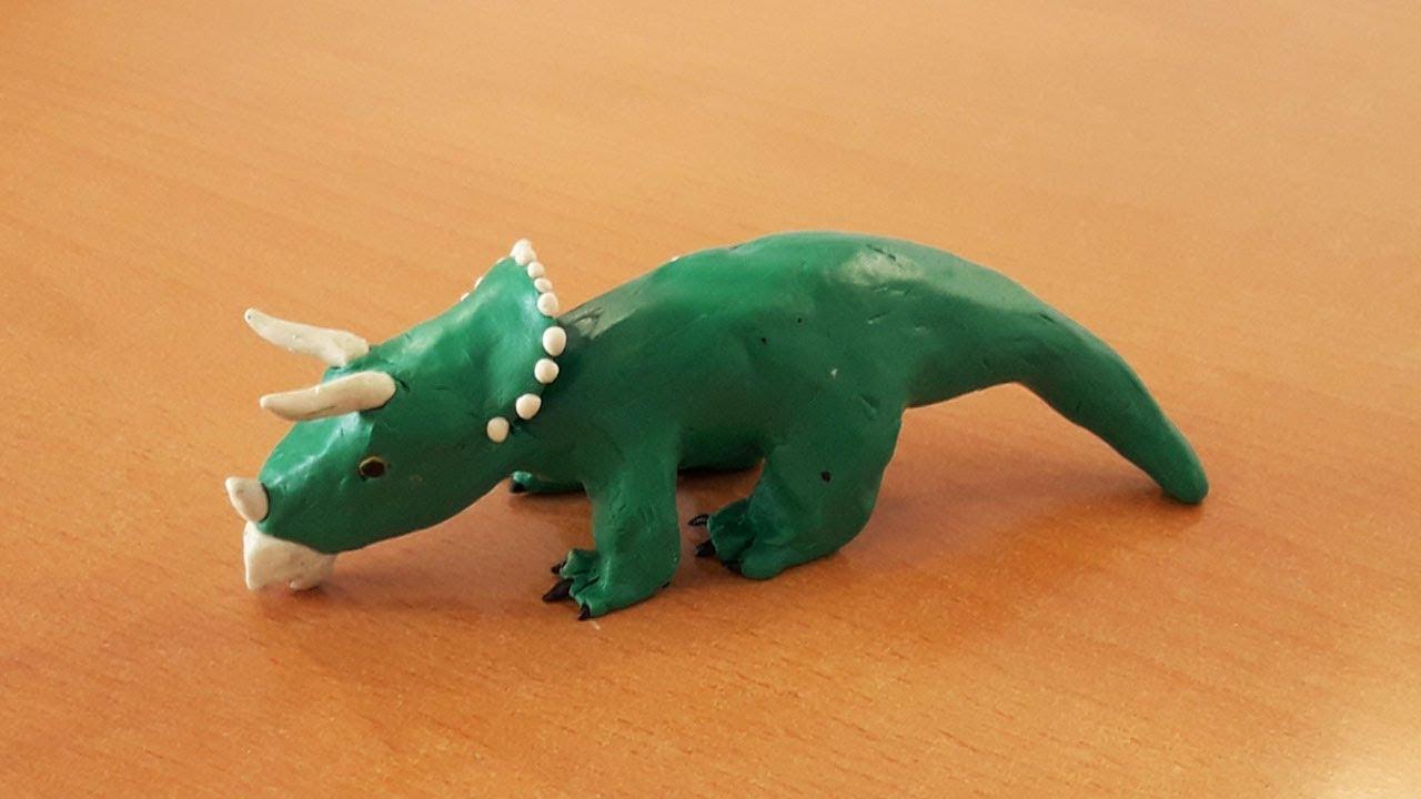 динозавр пластилиновый картинка земляком, понятно, напечатал