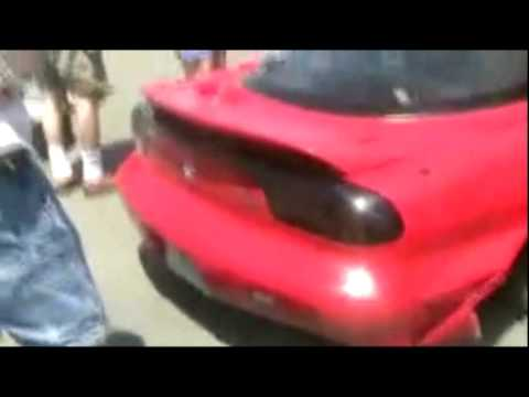 RX-7 Ridiculous Drifting Accident