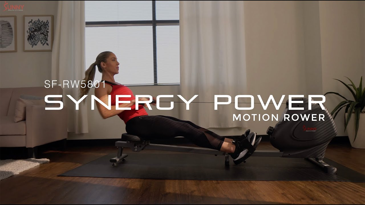 Sunny Health & Fitness SF-RW5801 Synergy Power Motion Magnetic Rowing Machine