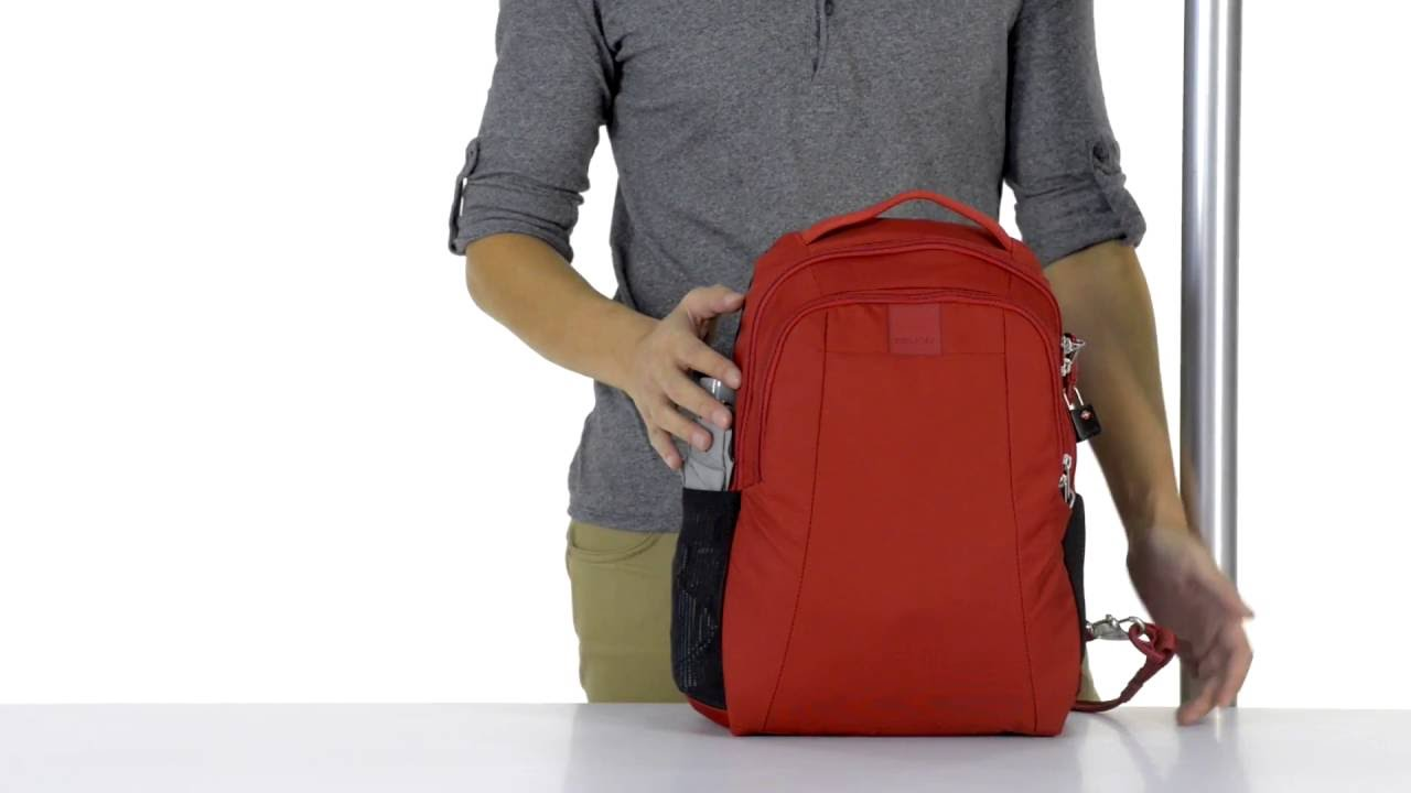 PacSafe Metrosafe LS350 ECONYL 15L Backpack Anti Theft Bag Fit 13