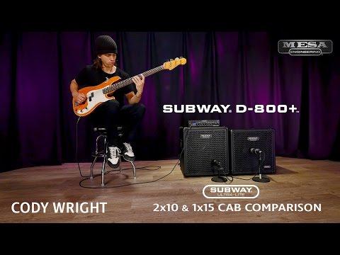 MESA/Boogie Subway Ultra-Lite 2x10 vs 1x15 Comparison