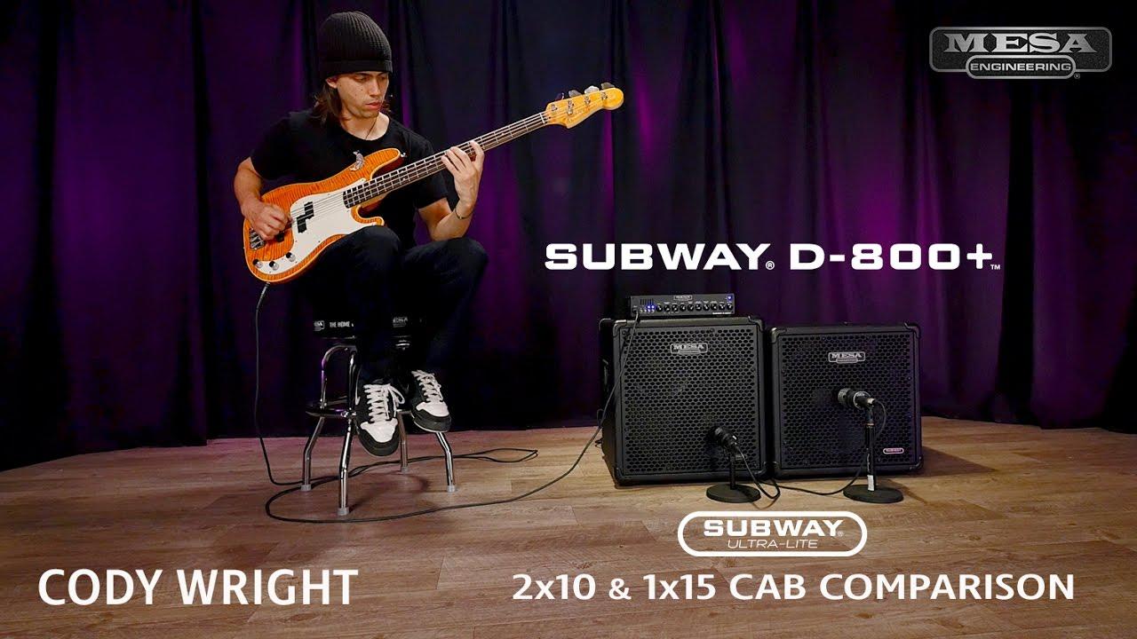 MESABoogie Subway UltraLite 2x10 vs 1x15 Comparison