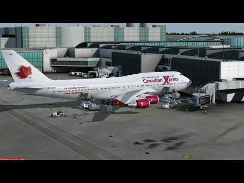 Boeing 747-400 Houston (KIAH) to Calgary (CYYC) P3D v4.1