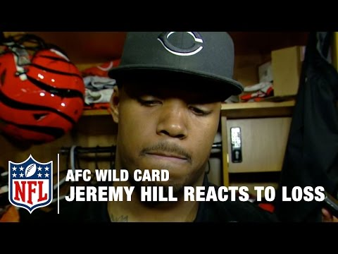 Jeremy Hill Reacts to Bengals' Wild Card Loss | Steelers vs. Bengals | NFL