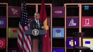 Obama In Ho Chi Minh City, Vietnam - Full Speech & Discussion On Entrepreneurship