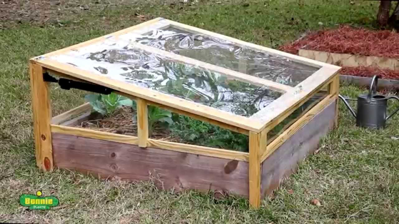 How To Build A Raised Bed Cold Frame Youtube