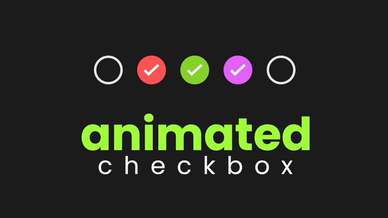 Animated and Colorful HTML CSS Checkbox - Animated Checkbox in Website