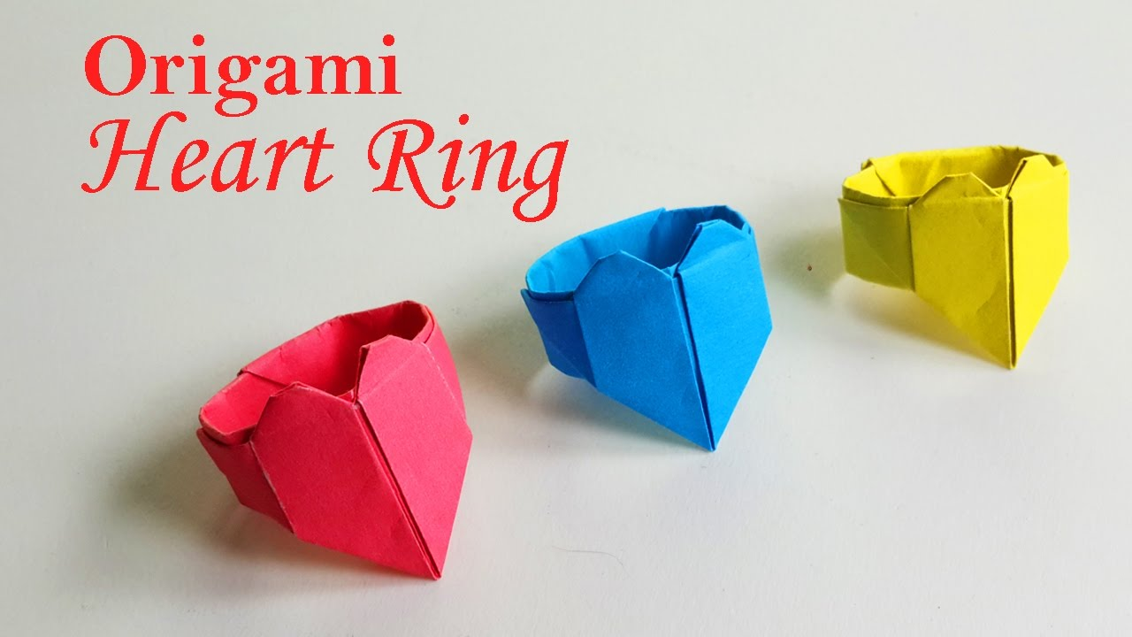 How to make a origami heart ring diy paper ring origami crafts how to make a origami heart ring diy paper ring origami crafts jeuxipadfo Choice Image