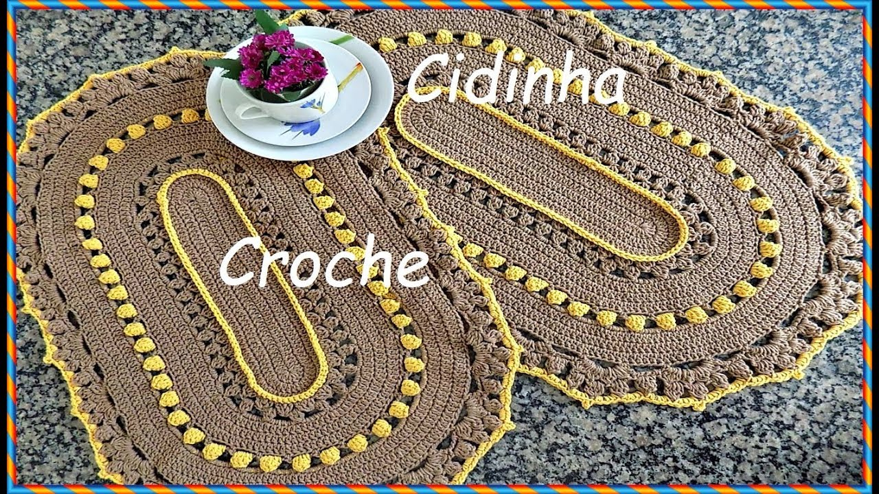 e0a7e2fdb4 Cidinha Croche   Tapete Oval Em Croche - Para Porta - Parte 1 2 ...