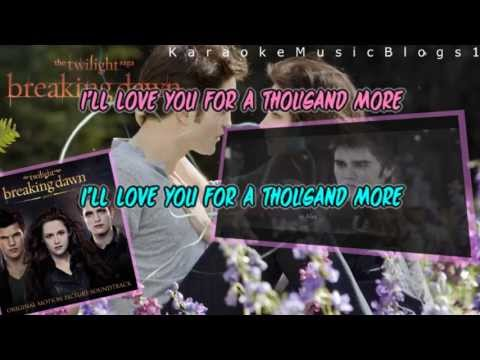 Christina Perri ft Steve Kazee - A Thousand Years Part 2 Karaoke / Instrumental HD
