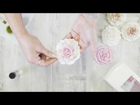 The World's Easiest Sugar Roses! - Karen Davies Sugarcraft - Large Rose Mould - How To - Tutorial