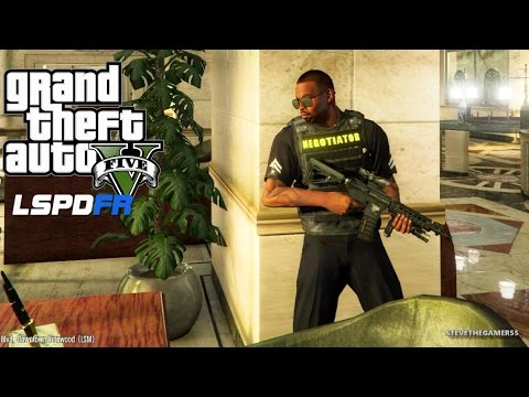 GTA 5 LSPDFR EPiSODE 96 - LET'S BE COPS - PACIFIC BANK HEIST (GTA 5 PC POLICE MODS) Assorted Calls