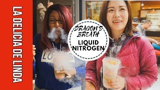 DRAGON'S BREATH at Chocolate Chair - First Impressions of Liquid Nitrogen Dessert | Food Porn