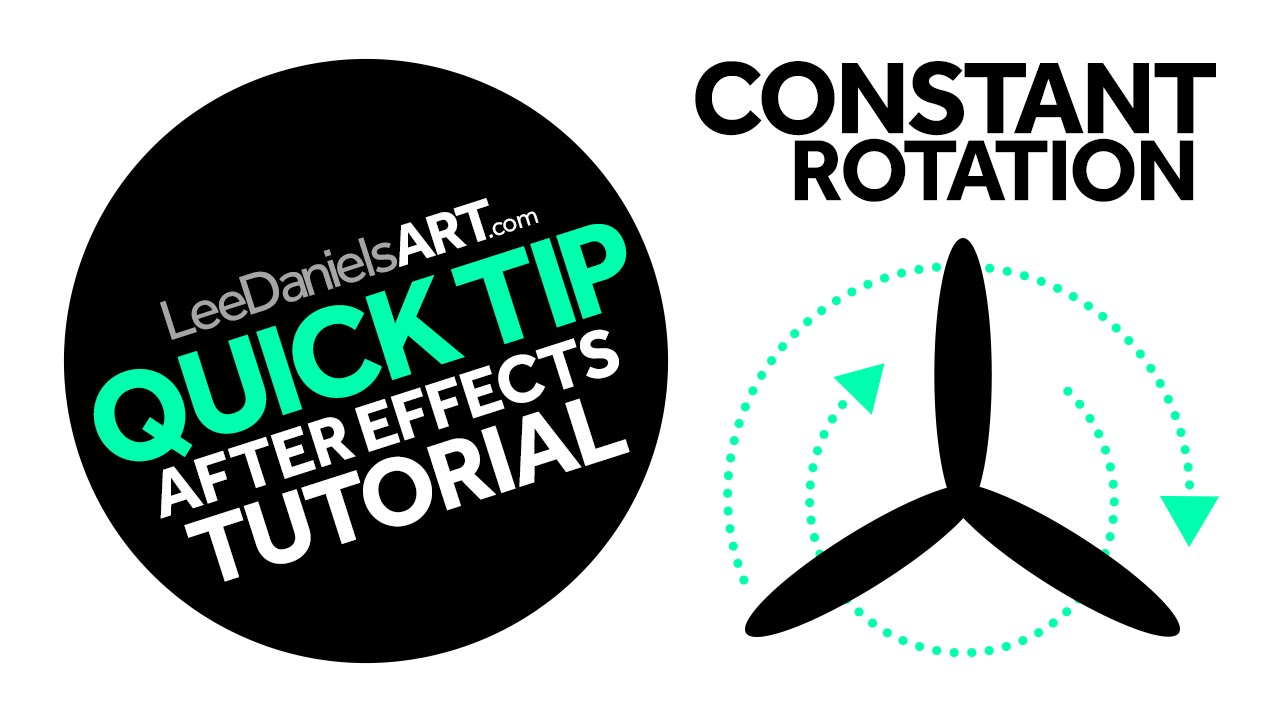 After Effects Tutorial | QUICK TIP | Constant Rotation
