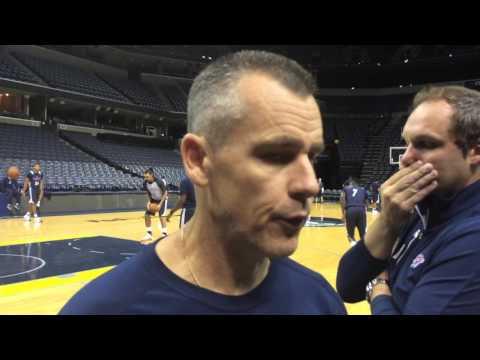 Donovan: Shootaround in Memphis