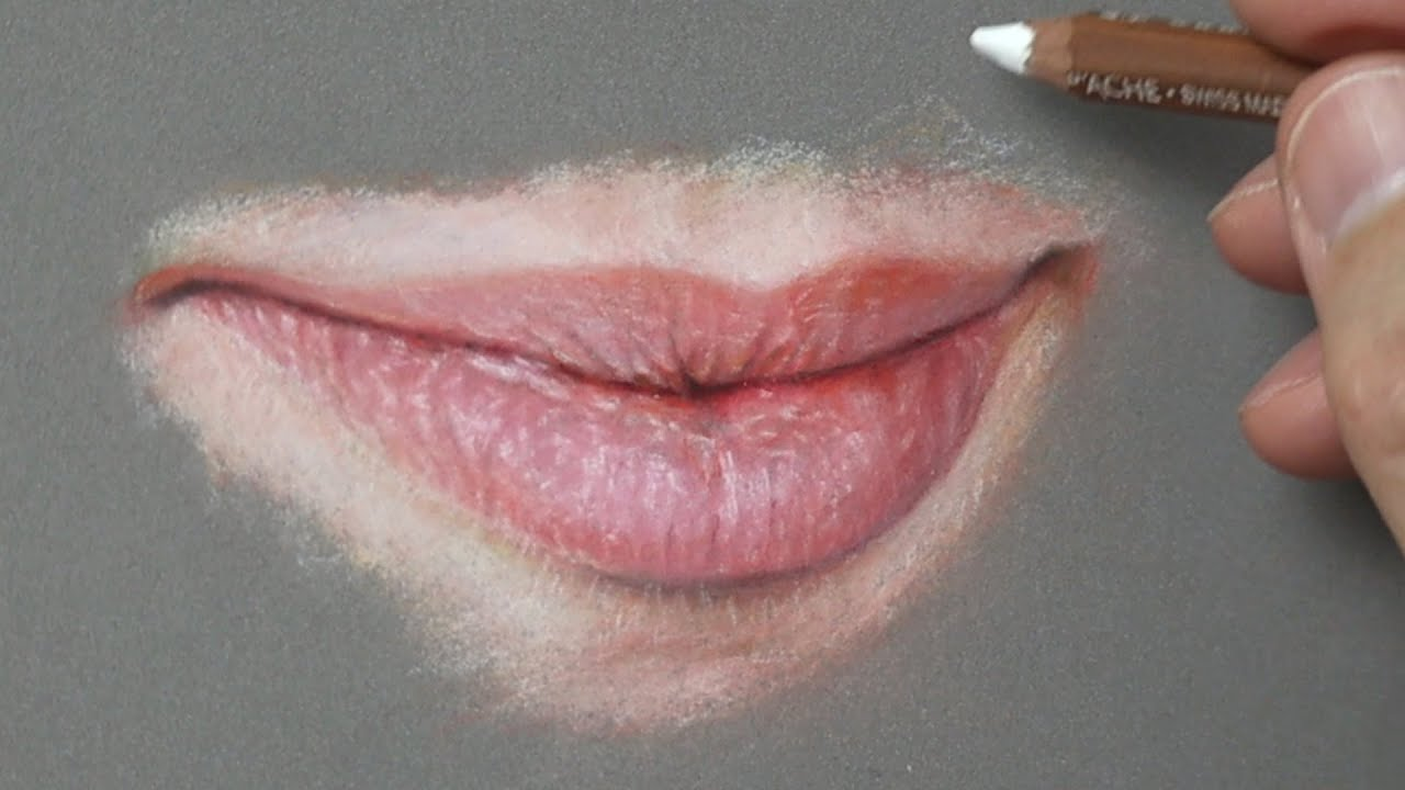 How to draw Realistic Lips using Pastel Pencils. Pastel Portrait Tips ~ Narrated Tutorial