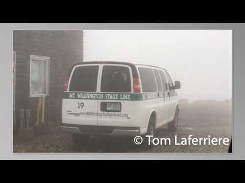 Mount Washington 100MPH+ wind.  Man tries to shut door of van
