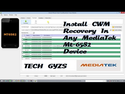 Install CWM or ClockworkMod Recovery in any Mediatek Mt 6582 device