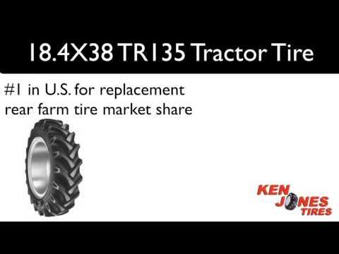 18.4X38 BKT TR135 Tractor Tires   1-800-225-9513   Ken Jones Tires