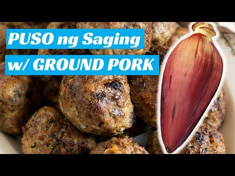 Puso ng Saging with Ground Pork | Pinoy Kitchen Recipes